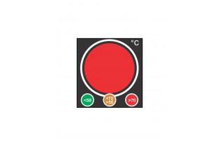 Indicateur type feu de signalisation  rouge