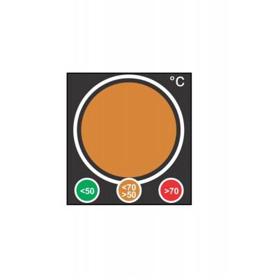 Indicateur type feu de signalisation  orange