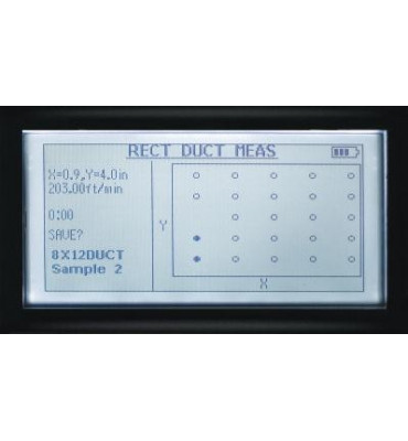 Micromanometre 8715 - ecran