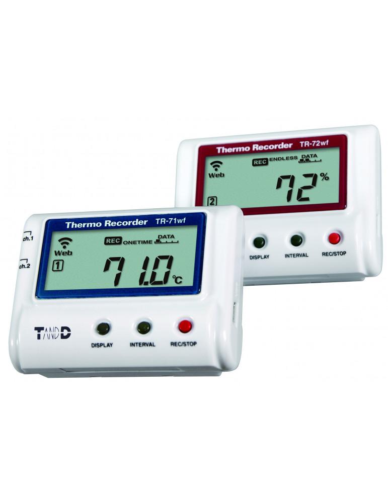 Enregistreurs connectés de température et d'humidité relative de la série TR-7W de TandD