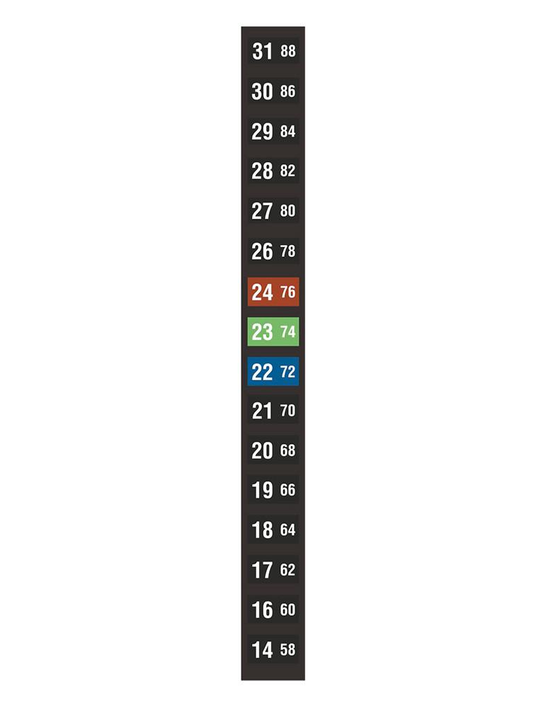 Indicateurs à cristaux liquides réversibles TLC - 16 températures 14-31°C