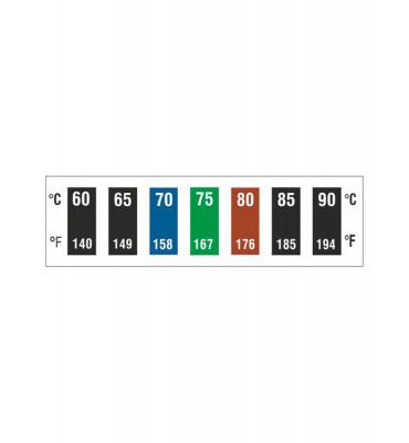 Indicateurs réversibles 7 températures 60-90°C