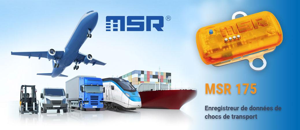MSR 175 Enregistreur de données de chocs de transport
